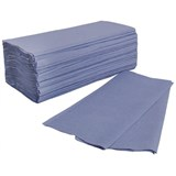 Blue C-Fold Hand Towels