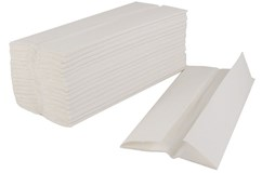 White 2ply Z Fold Hand Towel