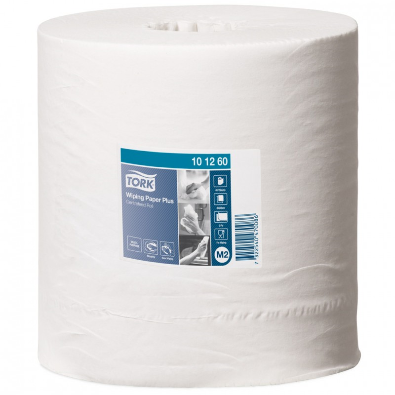 tork wiping paper plus white 972