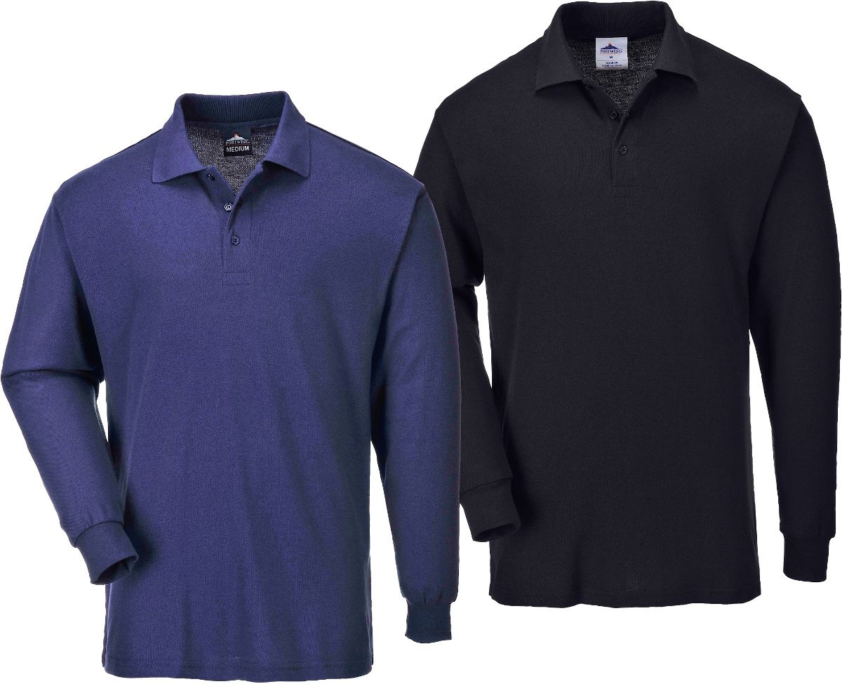 b212 long sleeved polo shirt portwest 1641 1 p