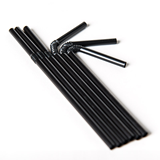 "Black 8"" Bendy Straws"
