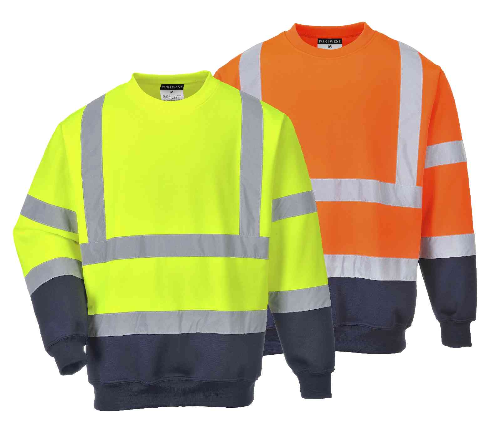 b306 two tone hi vis sweatshirt portwest 1801 p
