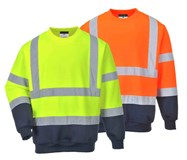 B306 - Two Tone Hi Vis Sweatshirt Portwest