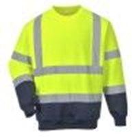 b306 two tone hi vis sweatshirt portwest colour yellow size 3xl [2] 1815 p