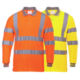 S277 - Hi Vis Long Sleeve Polo
