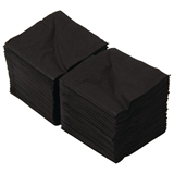 25cm Cocktail Napkins Black