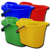 Colour Coded 12ltr Mop Bucket (Red, Blue, Yellow, Red)