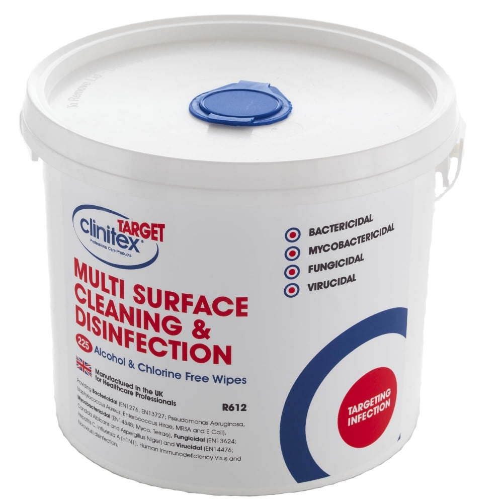 r612 multisurface wipes clinitex 1917