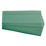 Green V fold Paper Hand Towels