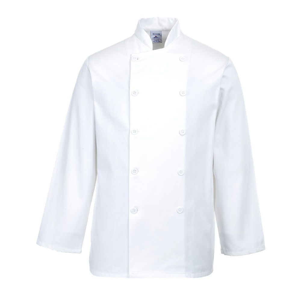 c836 sussex chefs jacket portwest 5094 p