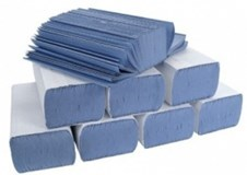 Blue V-Fold Hand Towels