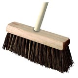 Bassine Stiff Wood Sweeping Yard Broom