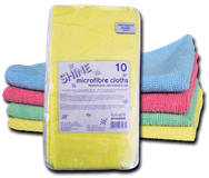 Optima  Premium Quality Microfibre Cloth x 10